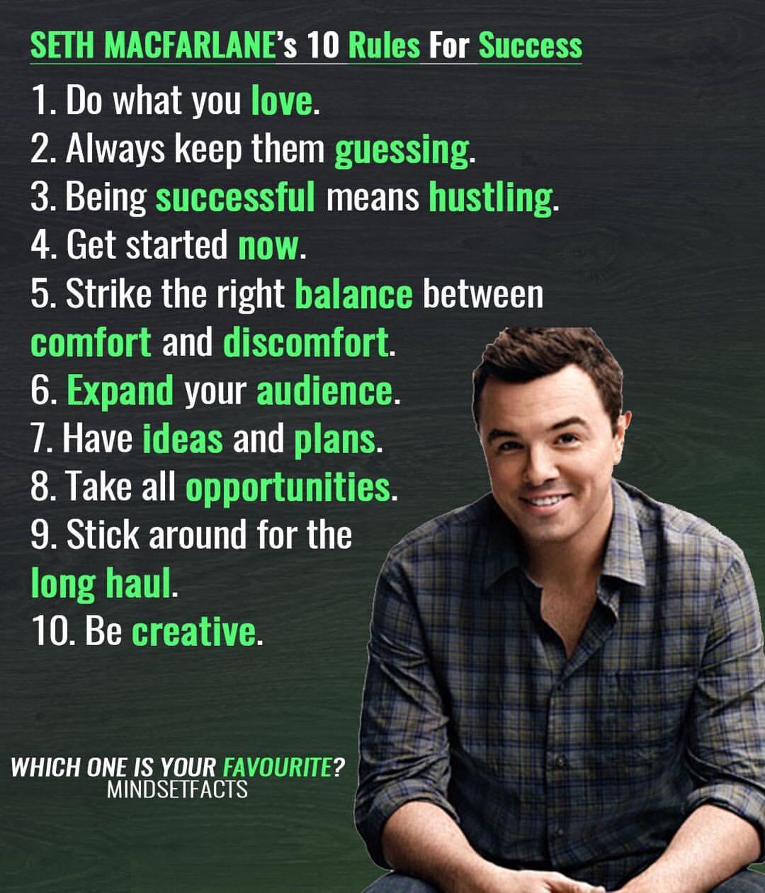 SETH MACFARLANE's 10 Rules For Success