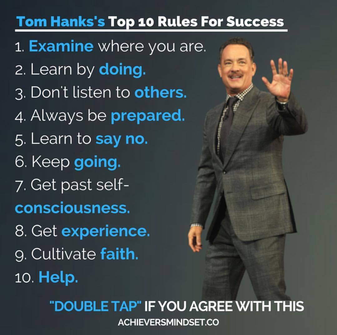 Motivation Quotes Tom Hanks