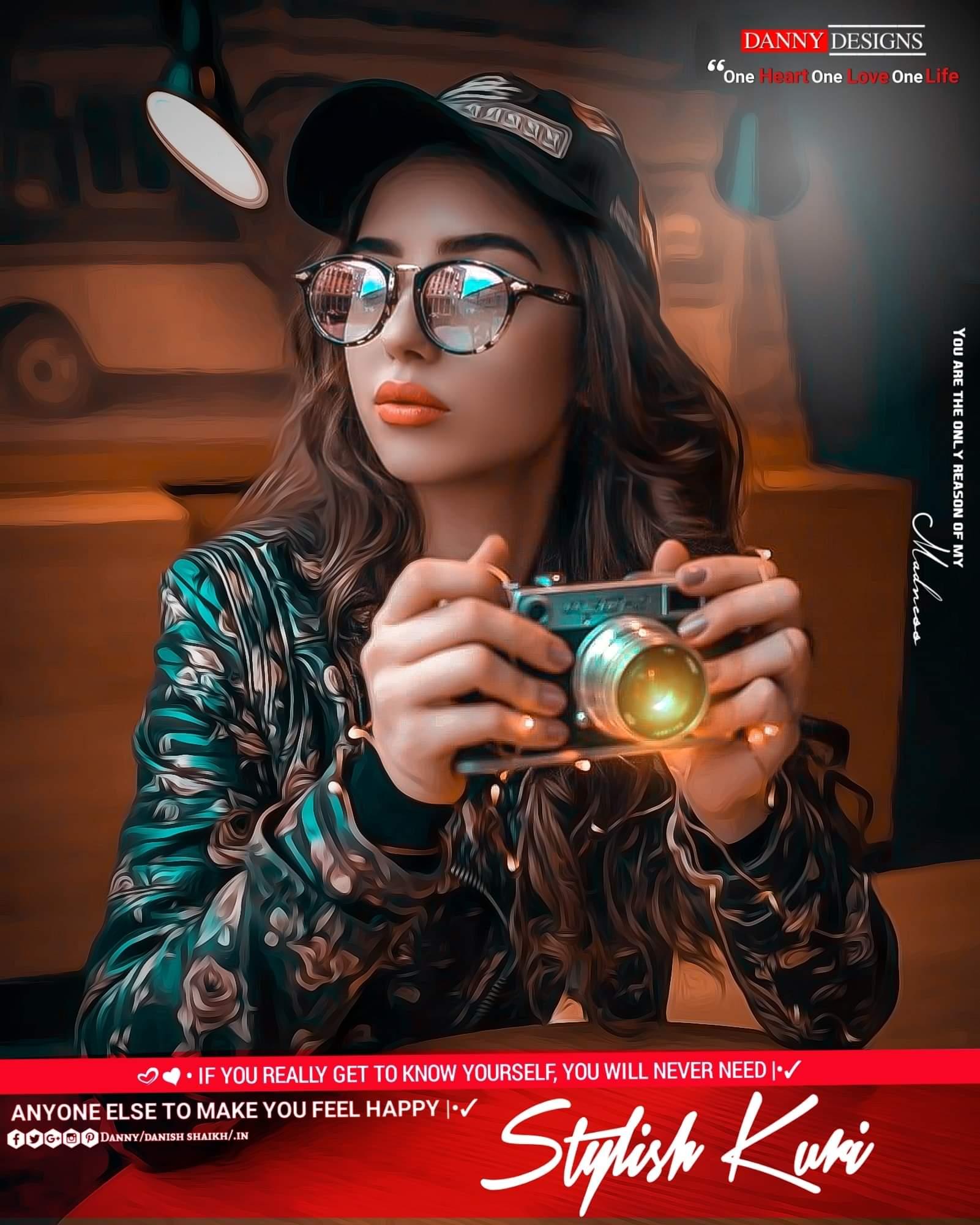 Stylish Singapore Girl Camera Photo