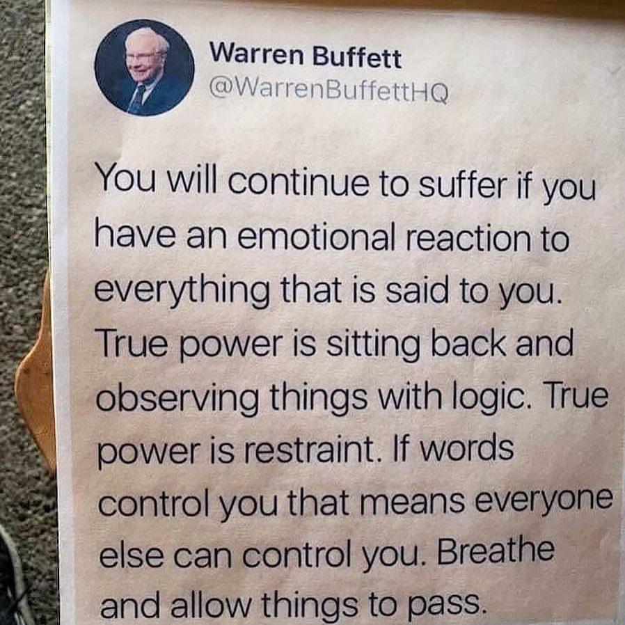 Warren Buffett Life Lesson About Emotions