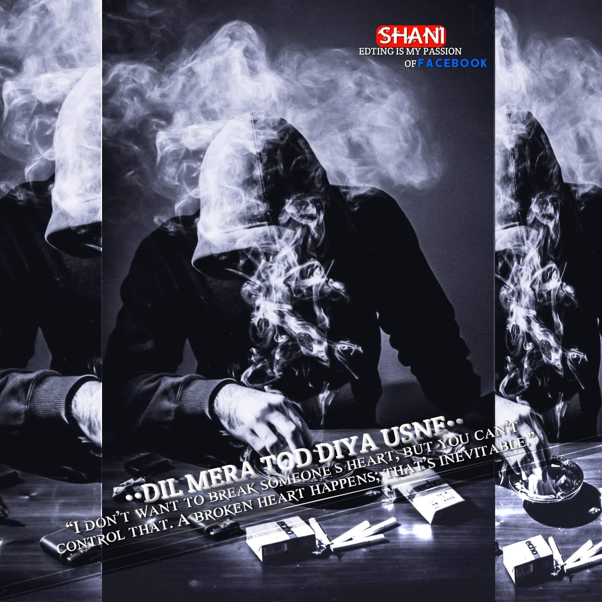 Sad Boy Smoking Display Picture