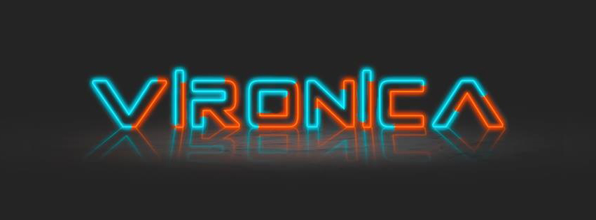 Neon Font Girl Name Vironica Facebook Cover Photo