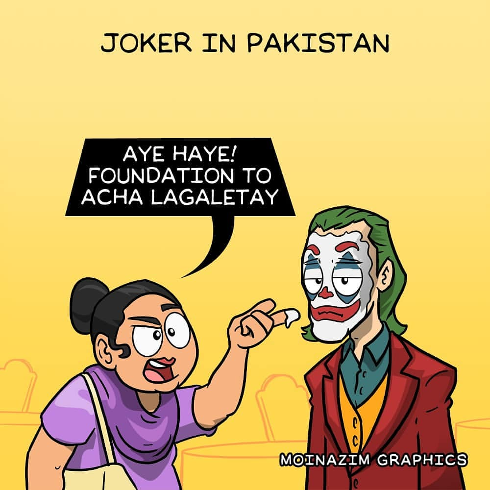Desi Aunty Funny Comic By Moinzaim Graphics