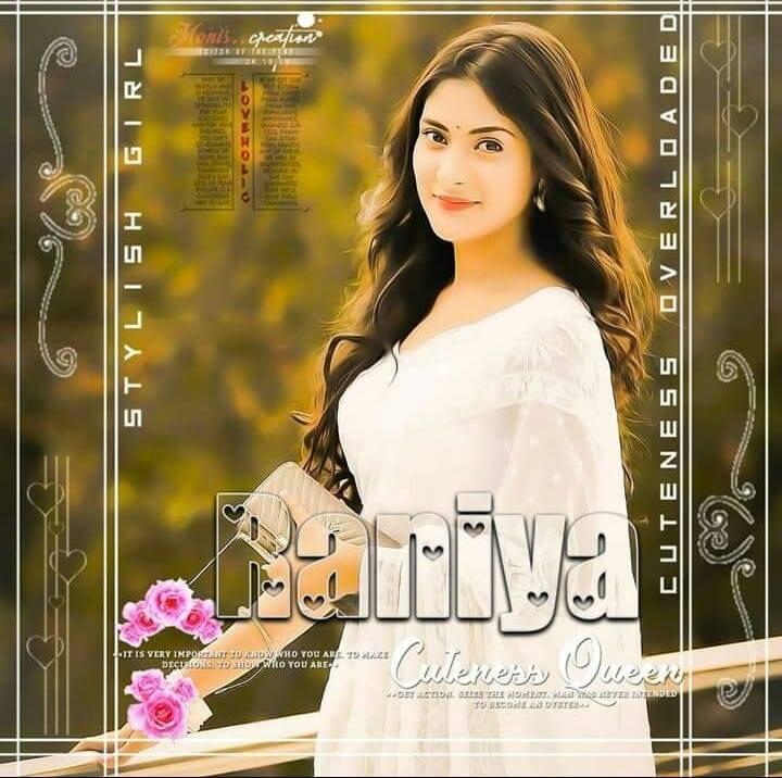 Raniya Name Pic In White Dress