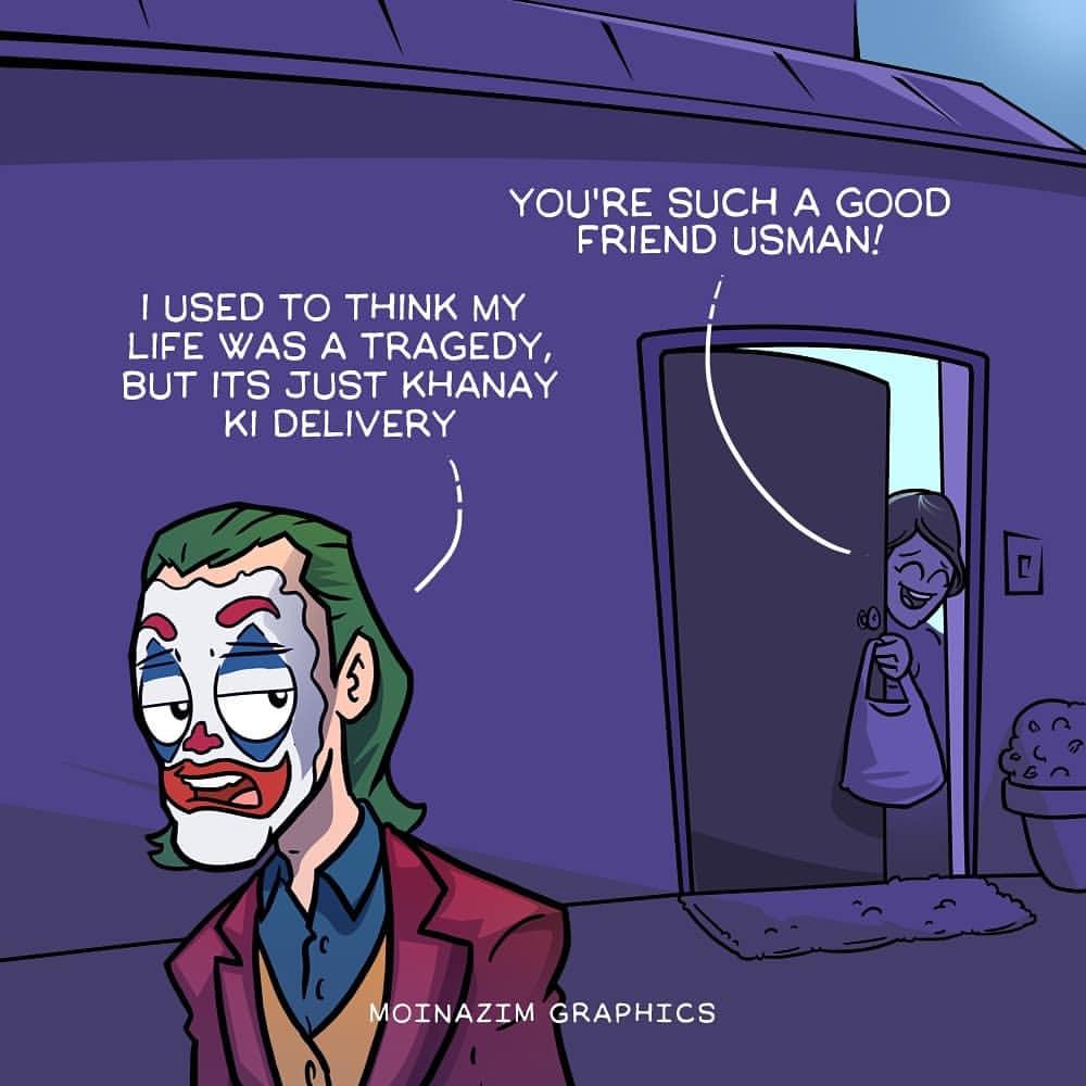 Joker In Pakistan As Usman