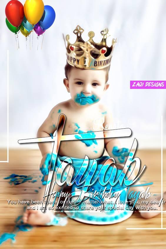 Happy Birthday Baby Photo Name Tayyab