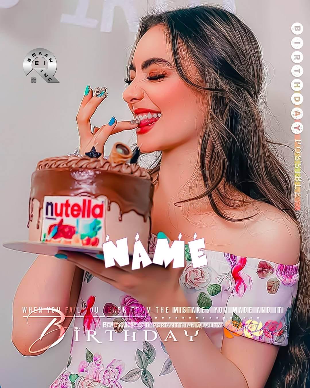 Write Name On Birthday Girl