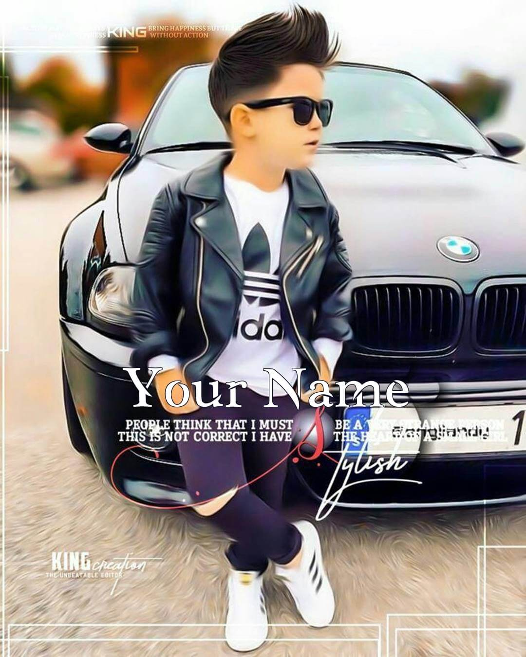 Cool Boy Dp With Car